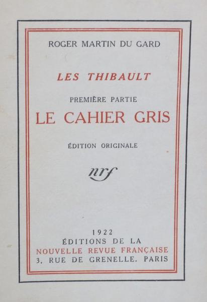 Les_Thibault_-_Le_cahier_gris,_édition_originale